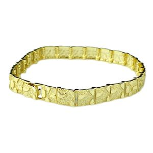 "Gold Over 925 8.5"" Nugget Bracelet"
