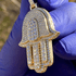 Gold On 925 Hamsa Hand Pendant