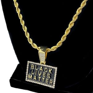 "24"" Gold Black Lives Matter Rope Chain"