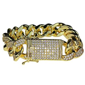 "Gold Plated Bracelet 8.5"" x 19MM"