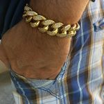 Gold Plated 19MM x 9 Inch Bracelet