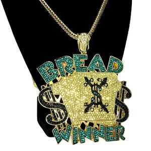 Gold Bread Winner Franco Chain 36""