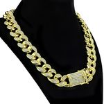 "Gold Plated Cuban Chain 20""x 19MM"