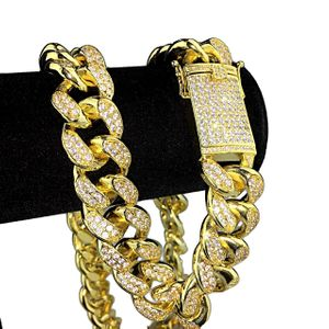 """Gold Plated Cuban Chain 24""""x 19MM"""