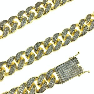 "Gold Plated Cuban Chain 24""x 19MM"