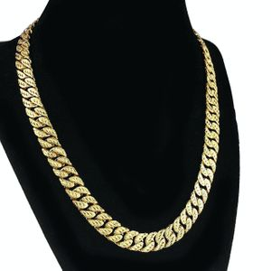 "18k Gold Plated 18"" Diamond Cut Cuban"