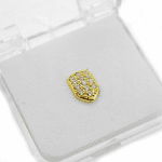 Gold Cubic CZ Lower Tooth