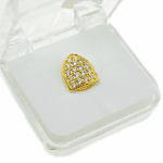 18K Gold Plated CZ Top Tooth Cap
