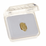 Gold CZ Fang Single Top Tooth Cap