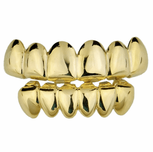 Gold Deeper-Cut Grillz Set