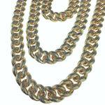 Gold Dust Bubble Cuban Chain 18-30""