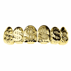 Gold Dollar Signs Top Grillz