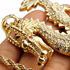 "Gold Dragon 30"" x 4 mm Rope Chain"