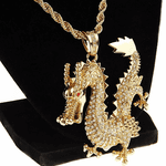 "Gold Dragon 30"" Rope Chain"