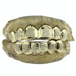 Gold Plated Over 925 Diamond-Dust Custom Grillz