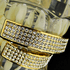 Gold Four Row Bling Grillz Set