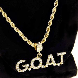 G.O.A.T Gold Rope Chain Goat 24""