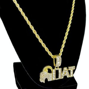 """GOAT Iced Baguettes Rope Chain 24"""""""