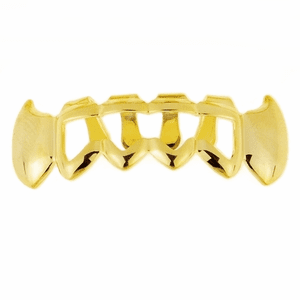 Gold Grillz 4 Full Open Bottom Fangs