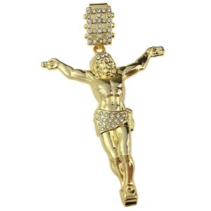 Gold Plated Jesus Body Pendant (Med)