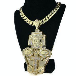 "Huge Gold 3D Jesus Chain 30"" x 14MM"