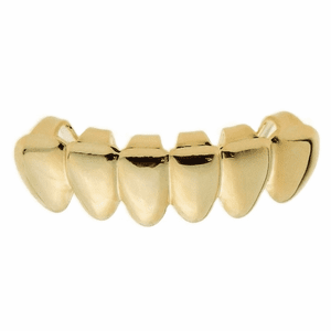 14K Gold Plated Low Deeper-Cut Grillz
