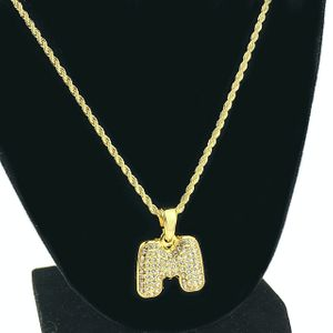 14K Gold Plated M Letter Micro Chain