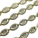 """Gold Mariner Iced Chain 30"""" x 12MM"""