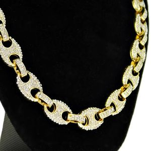 Gold Mariner Bling Links Chain 30""
