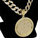 Big Gold Medallion Cuban Chain 24""