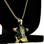 Micro Gold Frog Rope Chain 24""