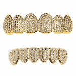 Gold Micro Pave Bling Grillz Set