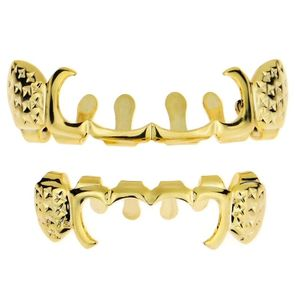 Gold Notched Grillz Curved Set