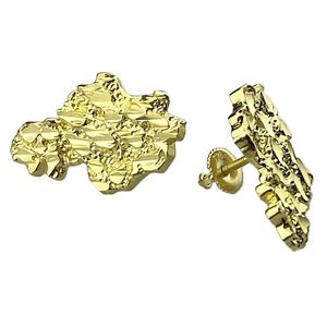 Gold over 925 25MM Nugget Earrings