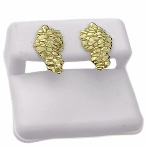 Nugget Gold Plated 925 Earrings 17MM