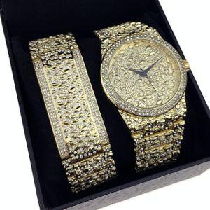 """Gold Nugget"" Design Watch Set"