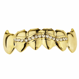 Gold One Row Vampire Grillz