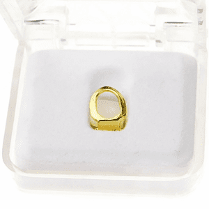 14K Gold Plated Open Bottom Tooth