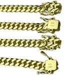 Gold over 925 Silver Cuban Chain 5MM