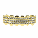 Gold 3-Row Lower Grillz