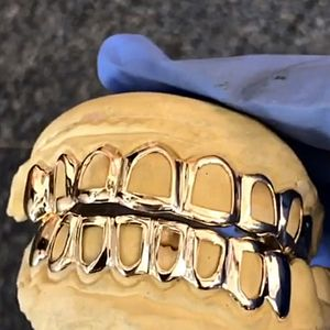Gold Plated 925 Open Face Grillz