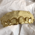 Gold Plated 925 All Open Face Hollow Custom Grillz