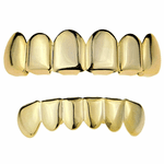 Gold Plated 925 Silver Grillz Set