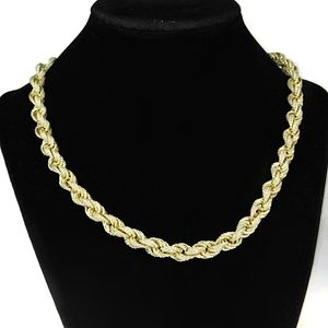 14k Gold Plated CZ Iced-Out Rope Chain