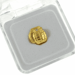 Gold Grenade Top Single Tooth Cap