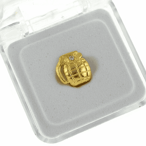 Gold Grenade Single Tooth