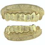 Gold Plated Full Diamond-Dust Custom Grillz