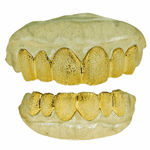 Gold Plated Grillz Full Diamond-Dust