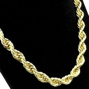"Gold Plain Rope Chain 18"" Choker"