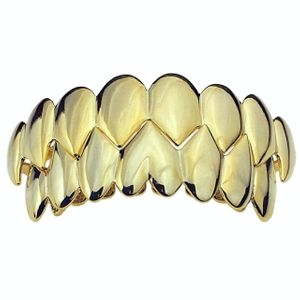 14k Gold Plated Shark Grillz Set
